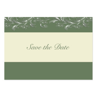 Dark Olive Tropical Vines Save The Date Cards