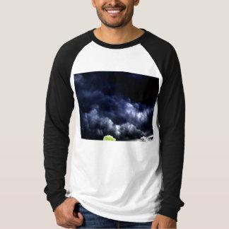 Dark Ominous Mammatus Clouds and Glowing Treetops T-Shirt