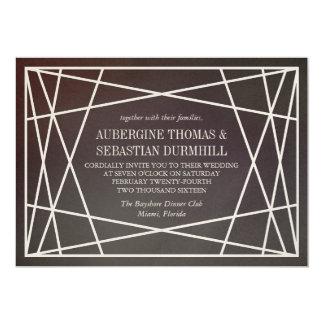 Dark Opaline Gemstone Wedding Invitation