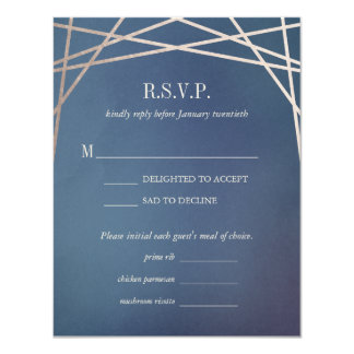 Dark Opaline Wedding Invitation Reply RSVP Card