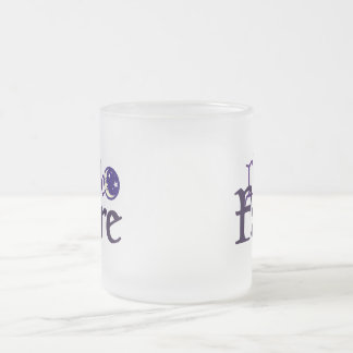 Dark [Opposite of Sun] Faire Frosted Glass Coffee Mug