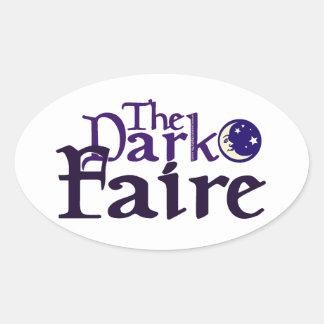 Dark [Opposite of Sun] Faire Oval Sticker