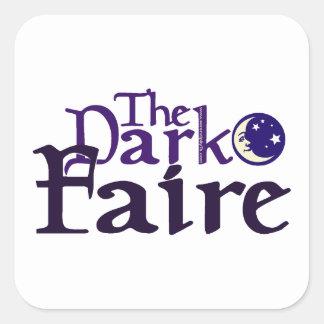 Dark [Opposite of Sun] Faire Square Sticker