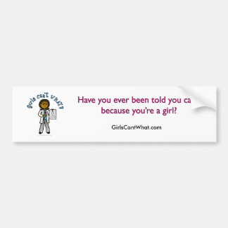 Dark Optometrist Girl Car Bumper Sticker