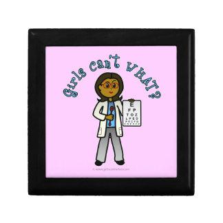Dark Optometrist Girl Trinket Box