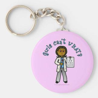 Dark Optometrist Girl Key Chain