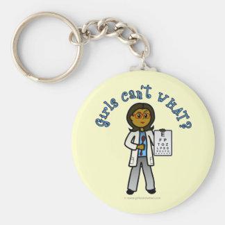 Dark Optometrist Girl Key Chains