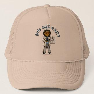 Dark Optometrist Girl Trucker Hat