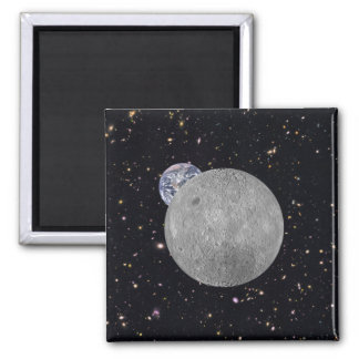 Dark or Far Side of the Moon 2 Inch Square Magnet