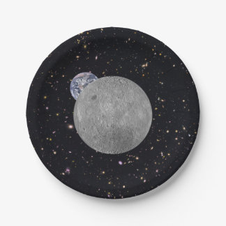 Dark or Far Side of the Moon 7 Inch Paper Plate
