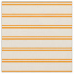 [ Thumbnail: Dark Orange and Bisque Colored Striped Pattern Fabric ]