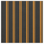 [ Thumbnail: Dark Orange and Black Lined Pattern Fabric ]