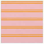 [ Thumbnail: Dark Orange and Light Pink Striped/Lined Pattern Fabric ]
