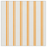 [ Thumbnail: Dark Orange and Mint Cream Pattern Fabric ]