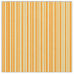 [ Thumbnail: Dark Orange and Tan Colored Lined/Striped Pattern Fabric ]