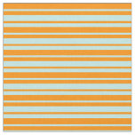 [ Thumbnail: Dark Orange and Turquoise Colored Lines Pattern Fabric ]
