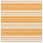 [ Thumbnail: Dark Orange and White Colored Lines Pattern Fabric ]