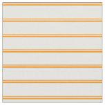 [ Thumbnail: Dark Orange and White Colored Stripes Fabric ]