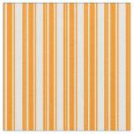 [ Thumbnail: Dark Orange and White Stripes Fabric ]