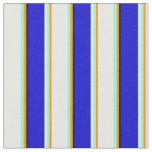 [ Thumbnail: Dark Orange, Aquamarine, White, Blue & Black Fabric ]