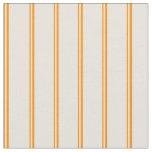 [ Thumbnail: Dark Orange & Beige Colored Lines Pattern Fabric ]