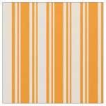 [ Thumbnail: Dark Orange & Bisque Colored Lined Pattern Fabric ]