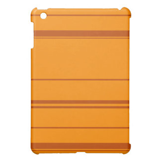 Dark Orange, Brown Retro Striped ipad case