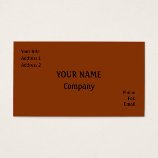 Dark orange business card