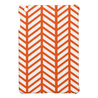 Dark Orange Chevron Folders Cover For The iPad Mini