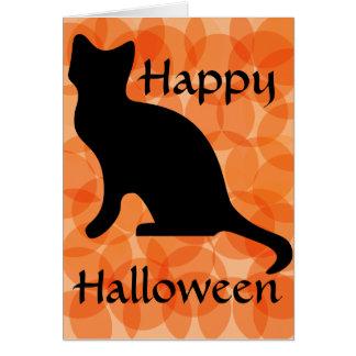 Dark orange circles  - Happy Halloween Card