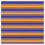 [ Thumbnail: Dark Orange & Dark Blue Colored Pattern Fabric ]