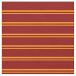 [ Thumbnail: Dark Orange & Dark Red Colored Pattern Fabric ]