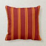 [ Thumbnail: Dark Orange & Dark Red Colored Pattern Pillow ]