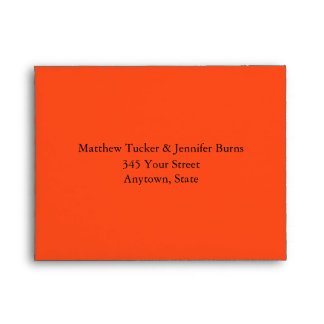 Dark Orange Envelope with Pre-Printed Address Envelopes
