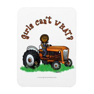 Dark Orange Farmer Girl Magnet