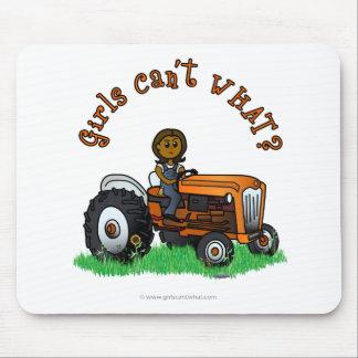 Dark Orange Farmer Girl Mouse Pad
