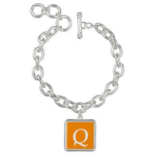 Dark Orange Gift One Color Charm Bracelet