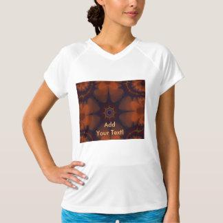 Dark Orange Goth Star Abstract T-Shirt