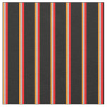[ Thumbnail: Dark Orange, Grey, Red, and Black Colored Lines Fabric ]