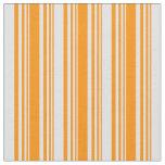 [ Thumbnail: Dark Orange & Lavender Colored Stripes Fabric ]