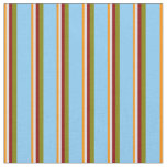[ Thumbnail: Dark Orange, Lavender, Red, Green & Light Sky Blue Fabric ]