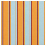 [ Thumbnail: Dark Orange, Light Blue, and Maroon Lines Fabric ]