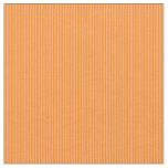 [ Thumbnail: Dark Orange & Light Salmon Lined Pattern Fabric ]