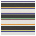 [ Thumbnail: Dark Orange, Midnight Blue, Beige, Black & Green Fabric ]