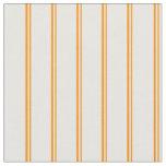 [ Thumbnail: Dark Orange & Mint Cream Colored Pattern Fabric ]