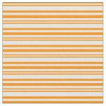 [ Thumbnail: Dark Orange & Mint Cream Stripes Fabric ]