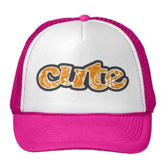 Dark Orange Paisley Trucker Hat