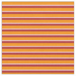 [ Thumbnail: Dark Orange, Pink & Red Colored Lines Fabric ]