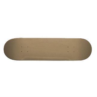 Dark Orange Plaid Pattern Skate Board