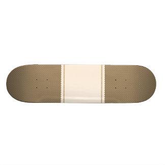 Dark Orange Plaid Pattern Skate Decks